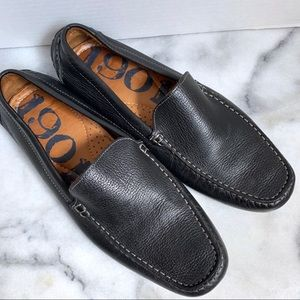 1901 Black Leather Driving Loafers Size 10 NWOT